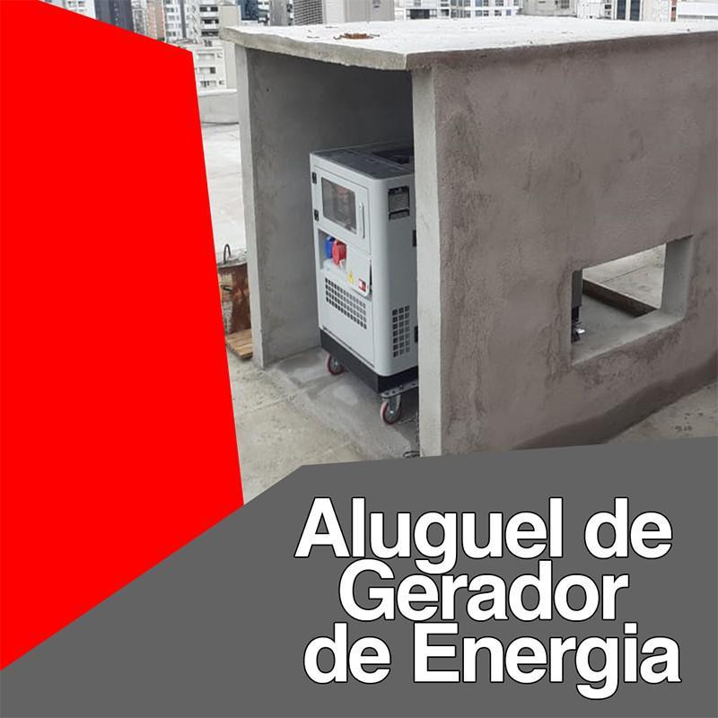 Aluguel de gerador de energia