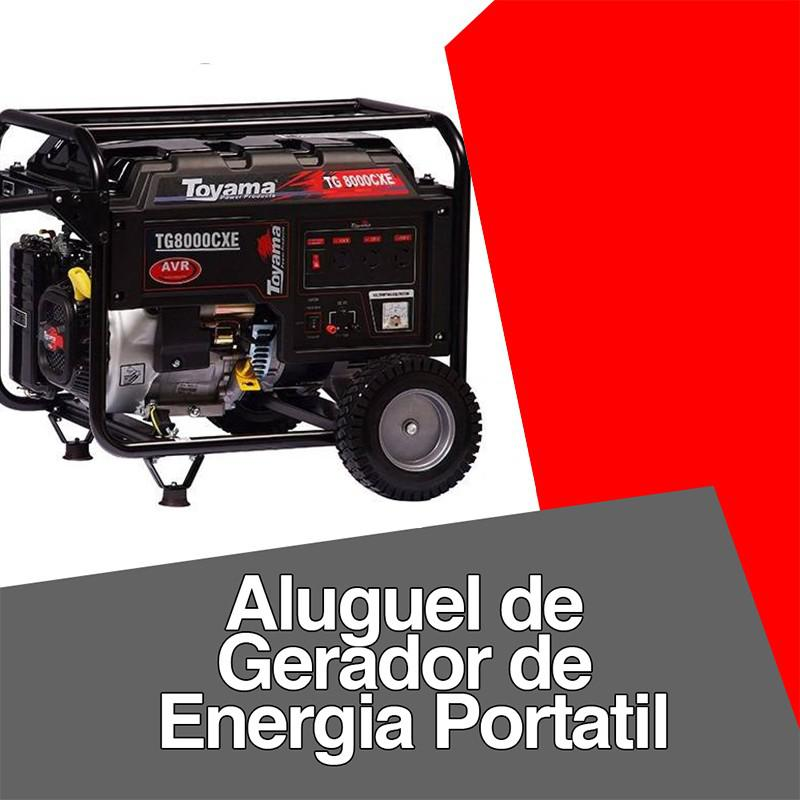 Aluguel de gerador de energia portatil