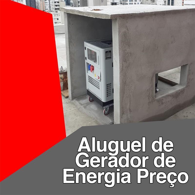 Aluguel de gerador de energia preço