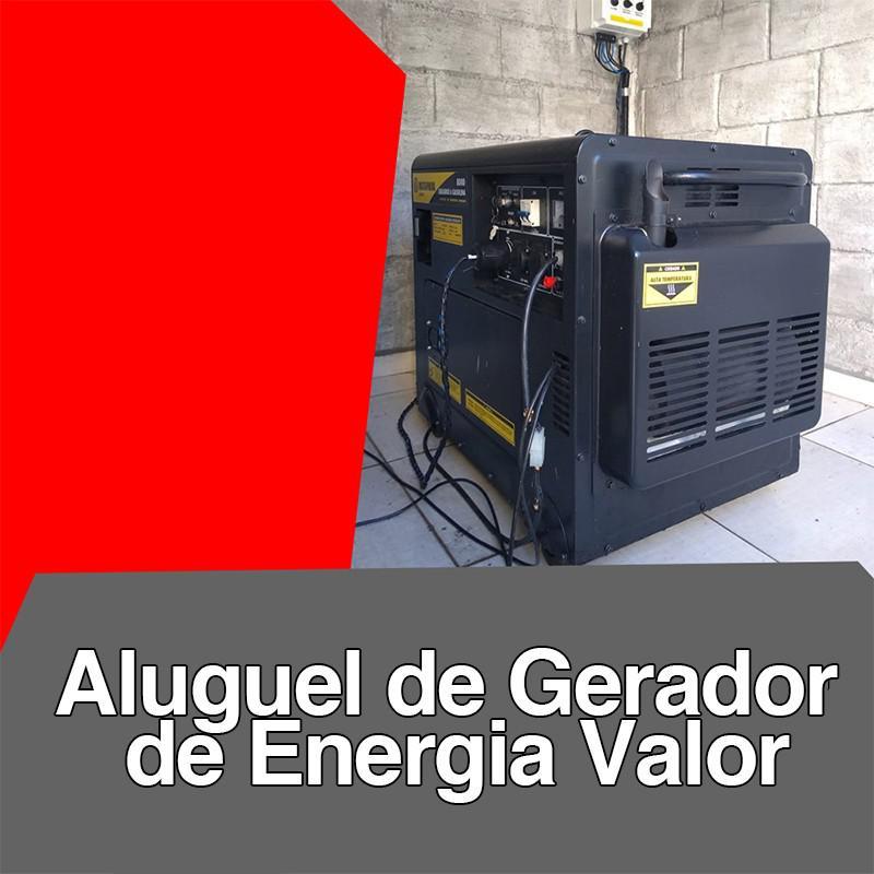 Aluguel de gerador de energia valor
