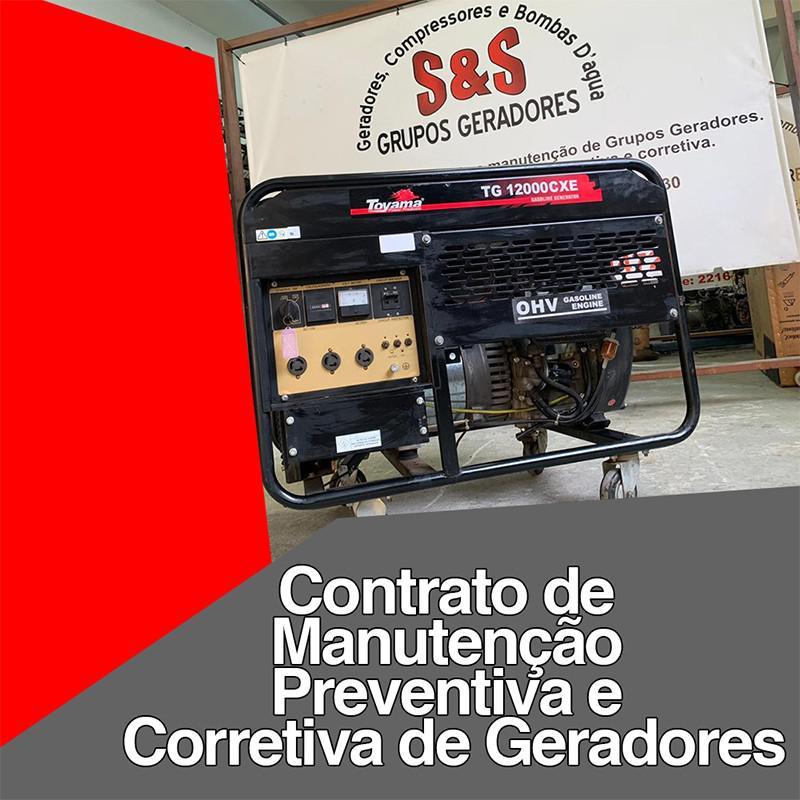 Contrato de manutenção preventiva e corretiva de geradores