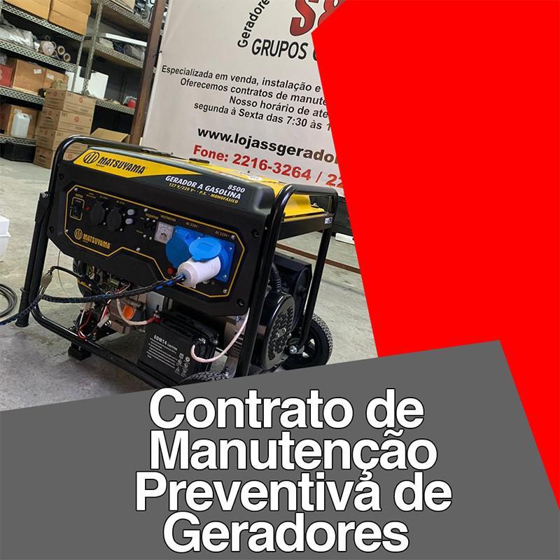 Contrato de manutenção preventiva de geradores