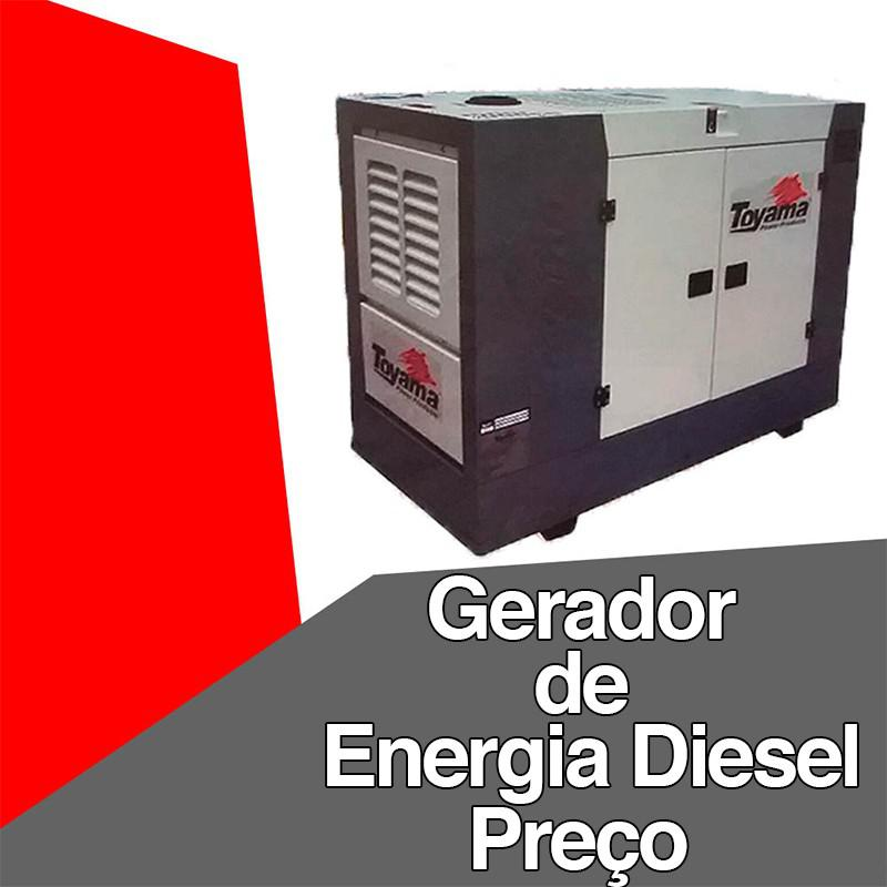 Gerador de energia diesel preço