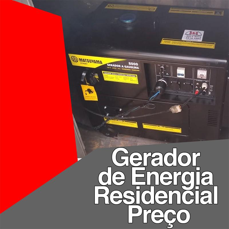 Gerador de energia residencial preço