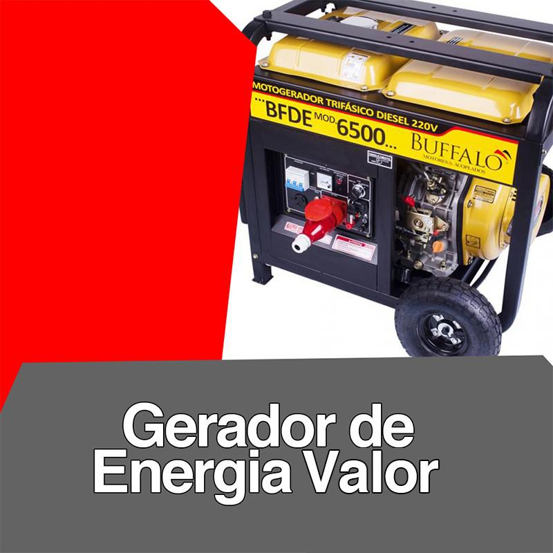 Gerador de energia valor