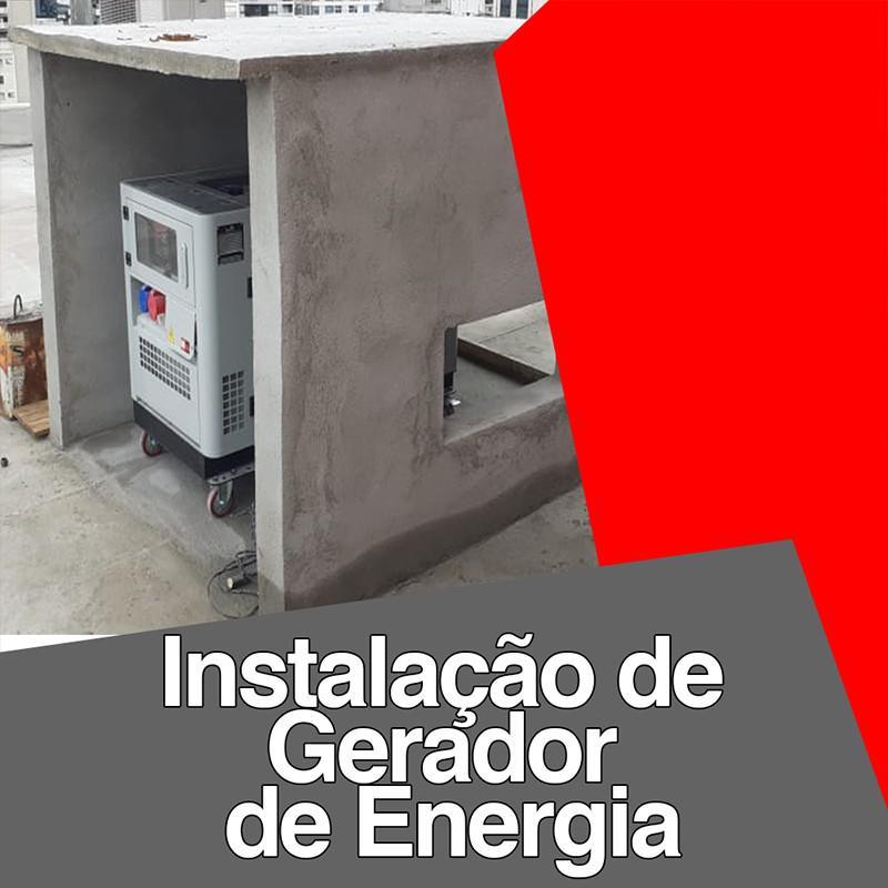 Instalação de gerador de energia