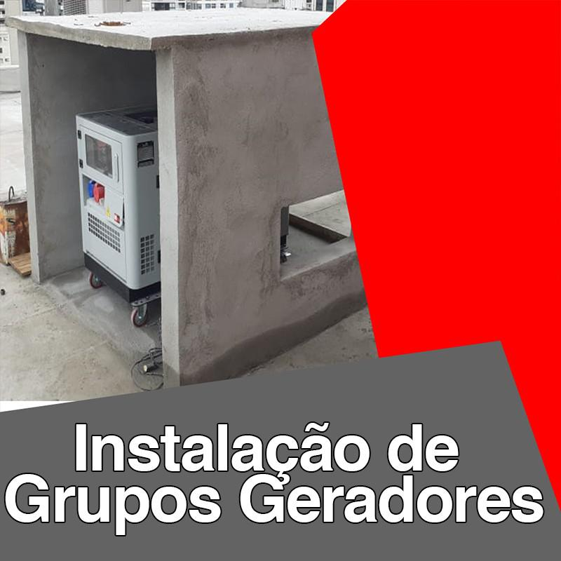 Instalação de grupos geradores