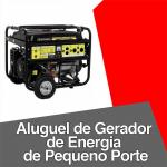 Aluguel de gerador de energia de pequeno porte